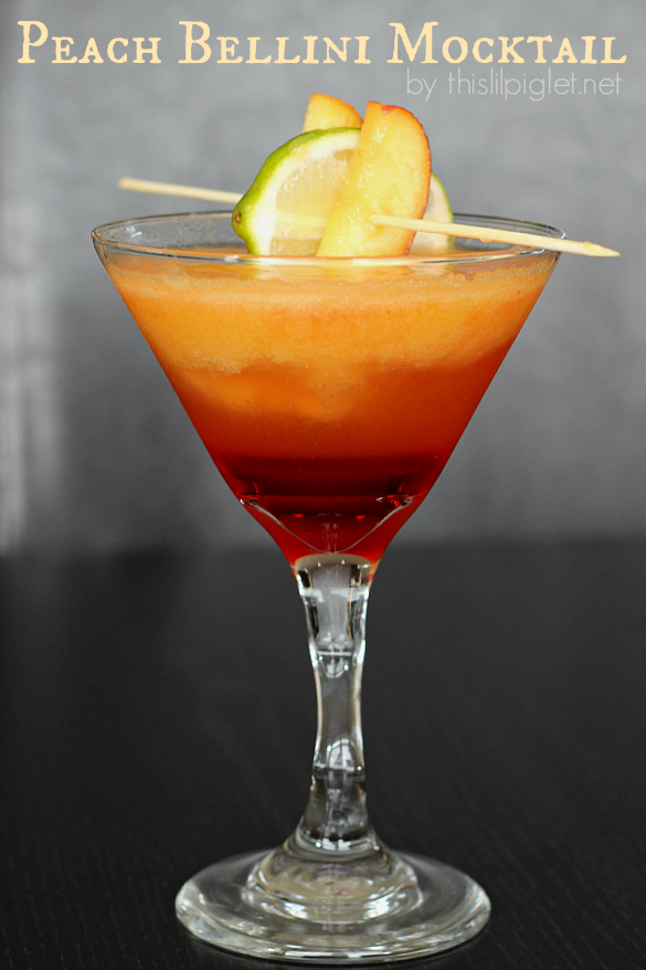 Peach Bellini Mocktail