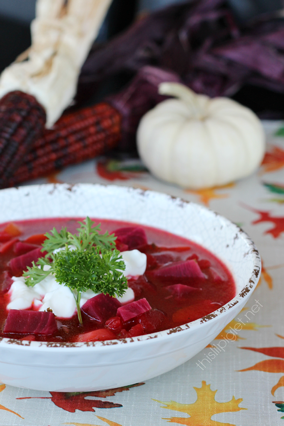 Best Beet Borscht Soup with Barley
