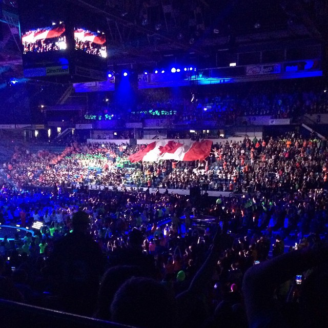 Proud to be Canadian youth & making changes for the future #weday