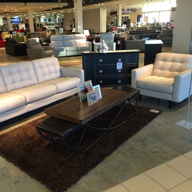 Sofa shopping @sears_canada Home. For my sanity with the kids I should say no to this