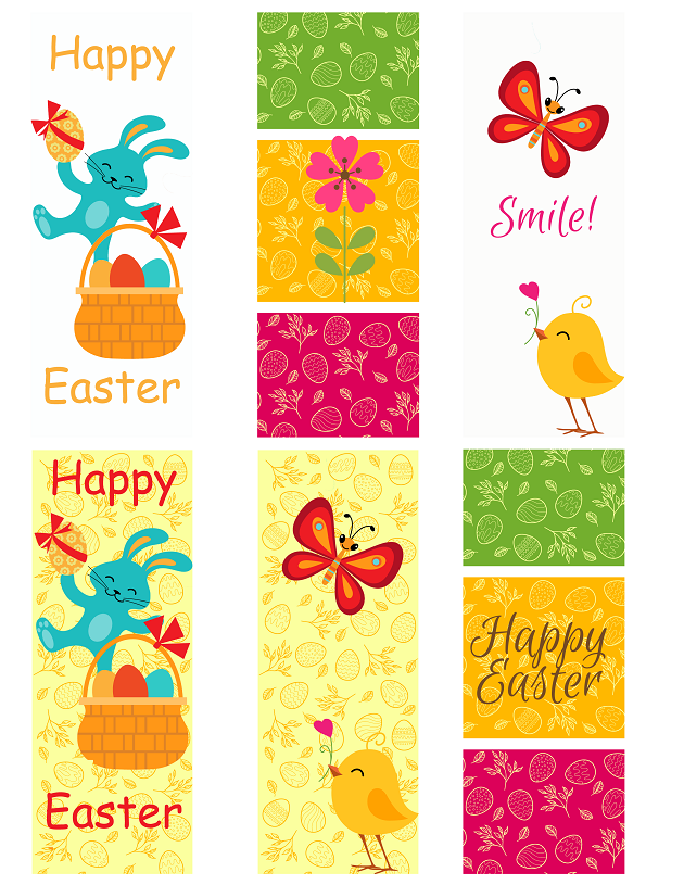 Easter Bookmark Printables