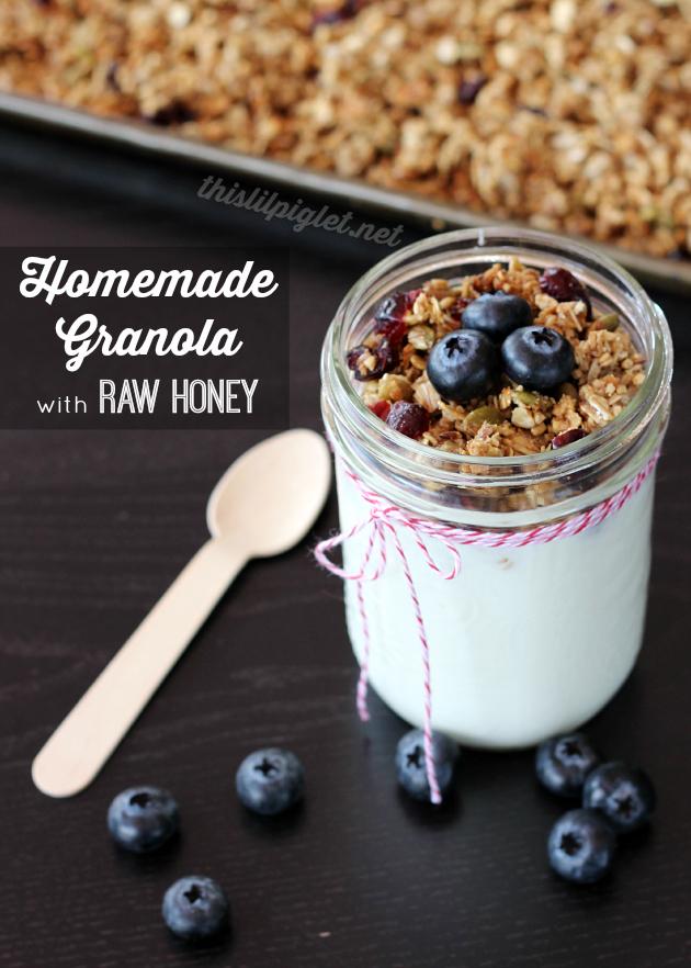 Homemade Granola with Raw Honey