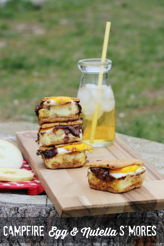 Campfire Egg and Nutella S'mores