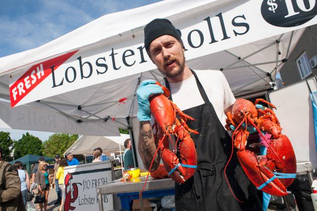 Fredericton Boyce Farmers Market - Fresh Lobsters