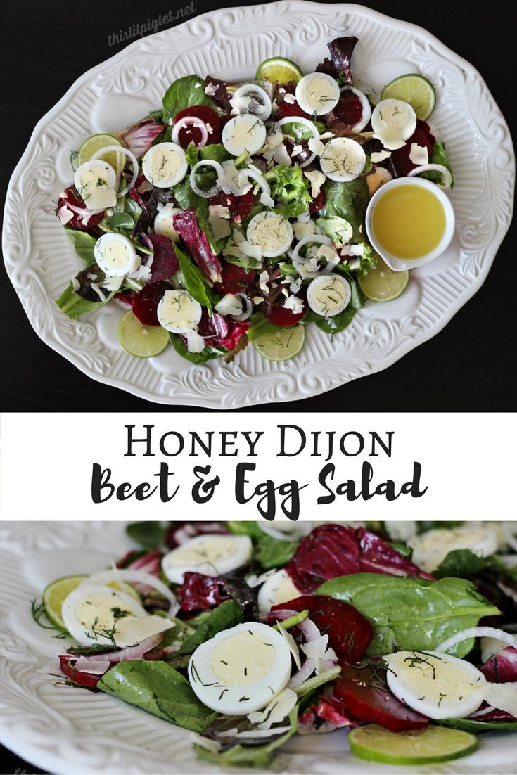 Honey Dijon Beet and Egg Salad // thislilpiglet.net