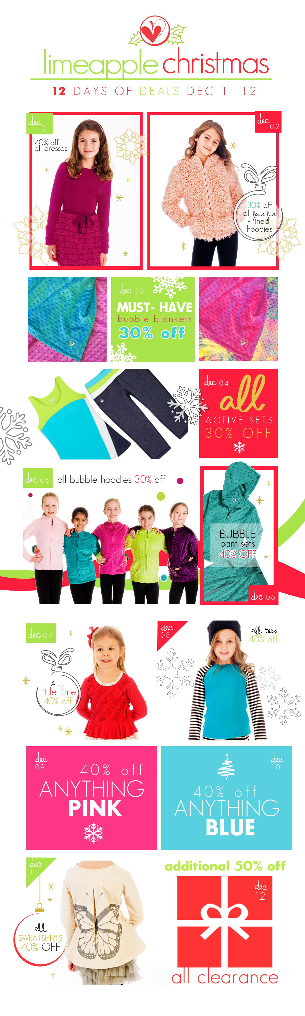 12 Days of Christmas Sales with Limeapple Girls Apparel