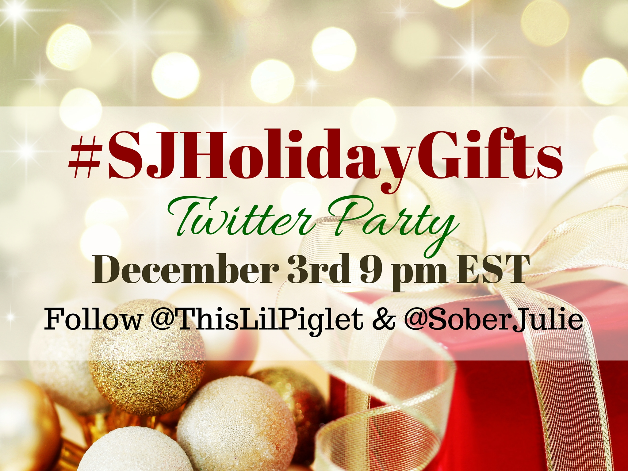 #SJHolidayGifts 2015 Twitter Party