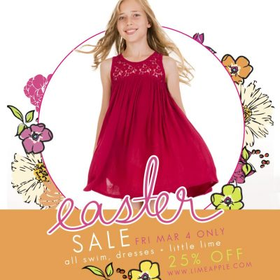 Activewear for Active Girls Limeapple Easter SALE March 4th ONLY