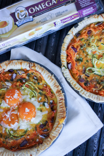 Sweet Potato Zucchini Quiche Nest