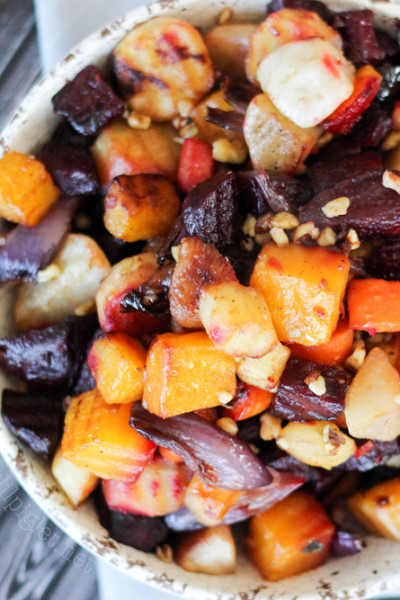Honey Roasted Root Vegetables with Butternut Squash