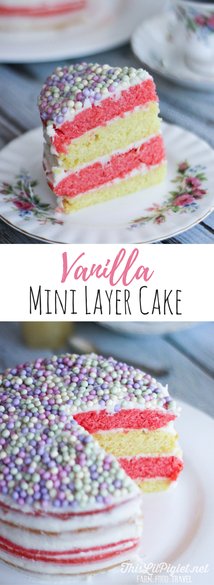 Pastel Vanilla Layer Cake // thislilpiglet.net