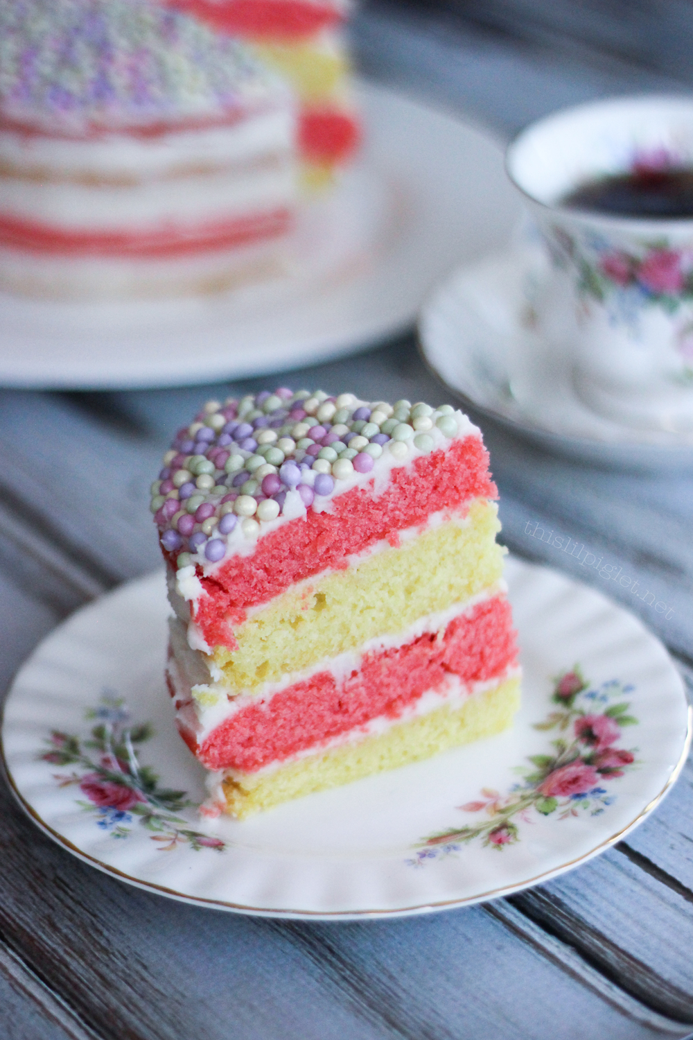 Pastel Layer Cake Mothers Day Recipes - This Lil Piglet
