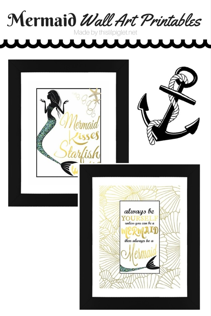 Mermaid Wall ArtPrintablesPin
