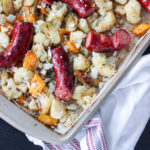 One-Pan Garlic Parmesan Sausage and Roasted Vegetables