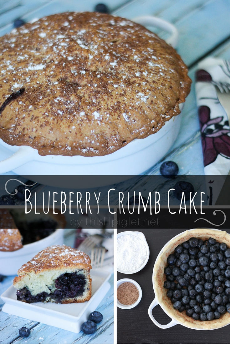 Blueberry Crumb Cake via @thislilpiglet