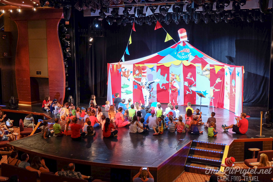 First Family Cruise Tips on the Carnival Magic: Dr. Suess Entertainment for Kids // thislilpiglet.net