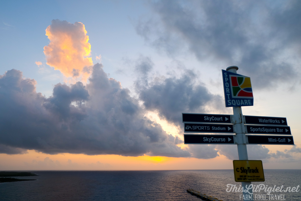 First Family Cruise Tips: Sunrise on the Carnival Magic // thislilpiglet.net