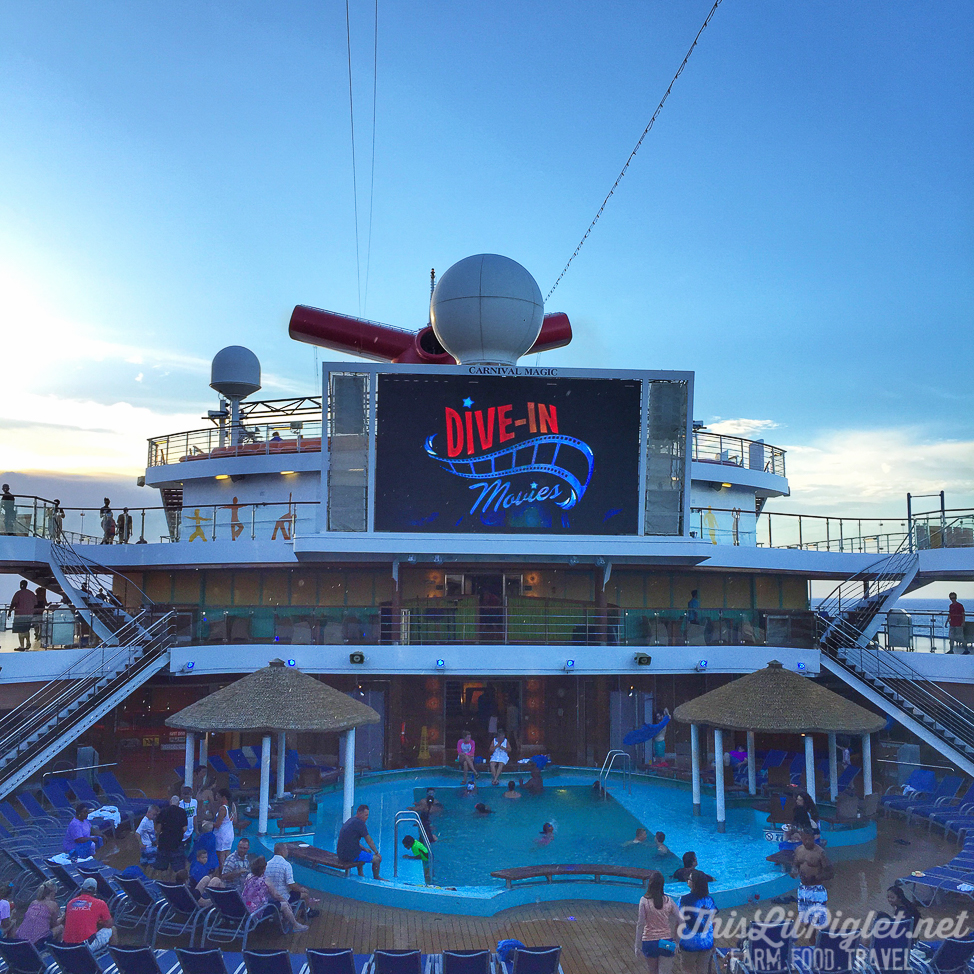 First Family Cruise Tips on the Carnival Magic: Dive in Family Movies // thislilpiglet.net