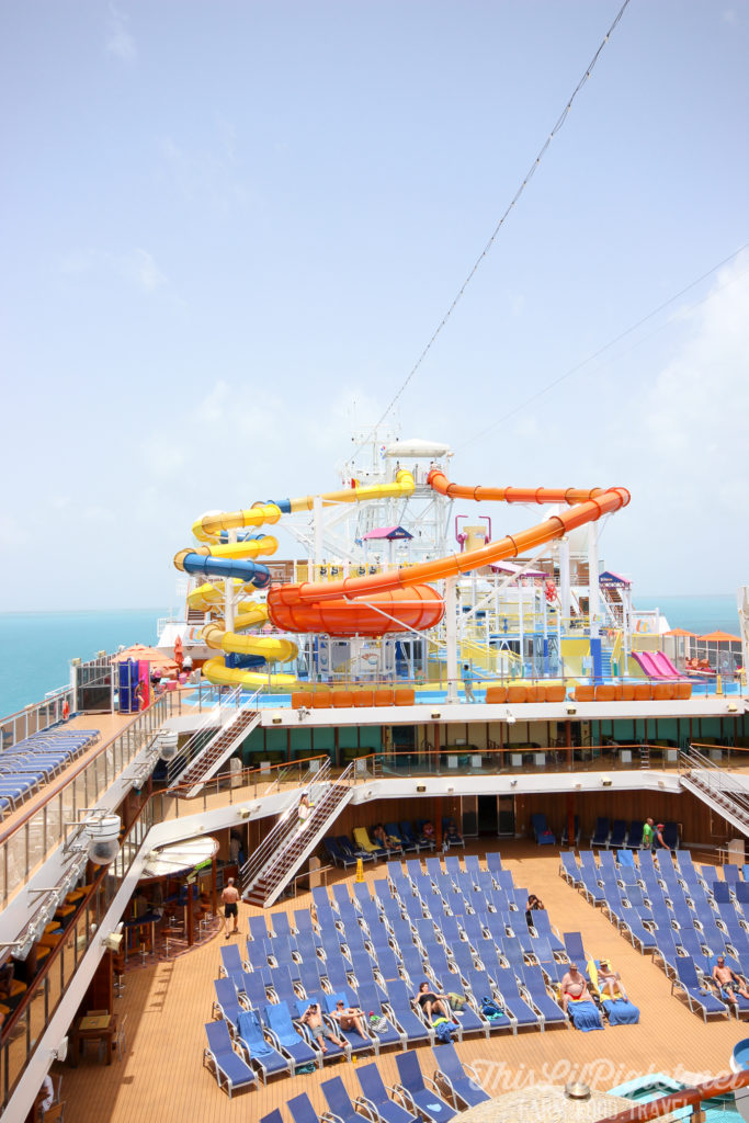 First Family Cruise Tips on the Carnival Magic: Waterworks // thislilpiglet.net