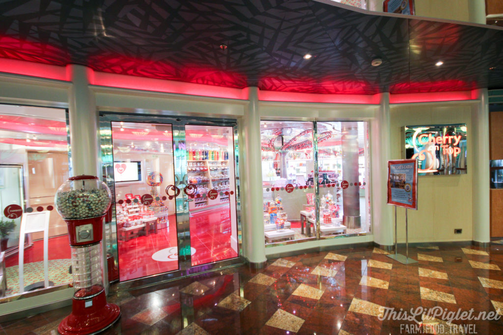 First Family Cruise Tips on the Carnival Magic: Cherry on Top Kids Candy Store // thislilpiglet.net
