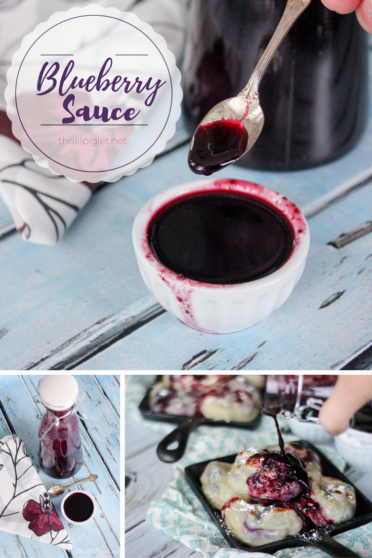 Blueberry Sauce via @thislilpiglet
