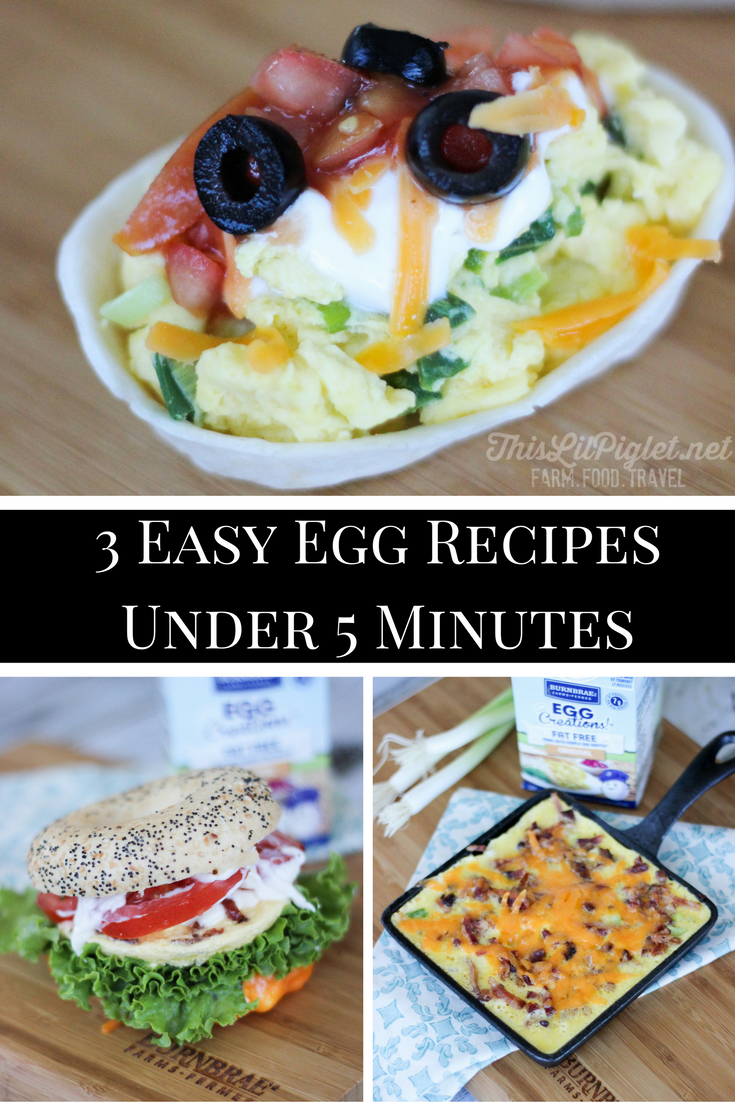 3 Easy Egg Recipes in Under 5 Minutes // thislilpiglet.net