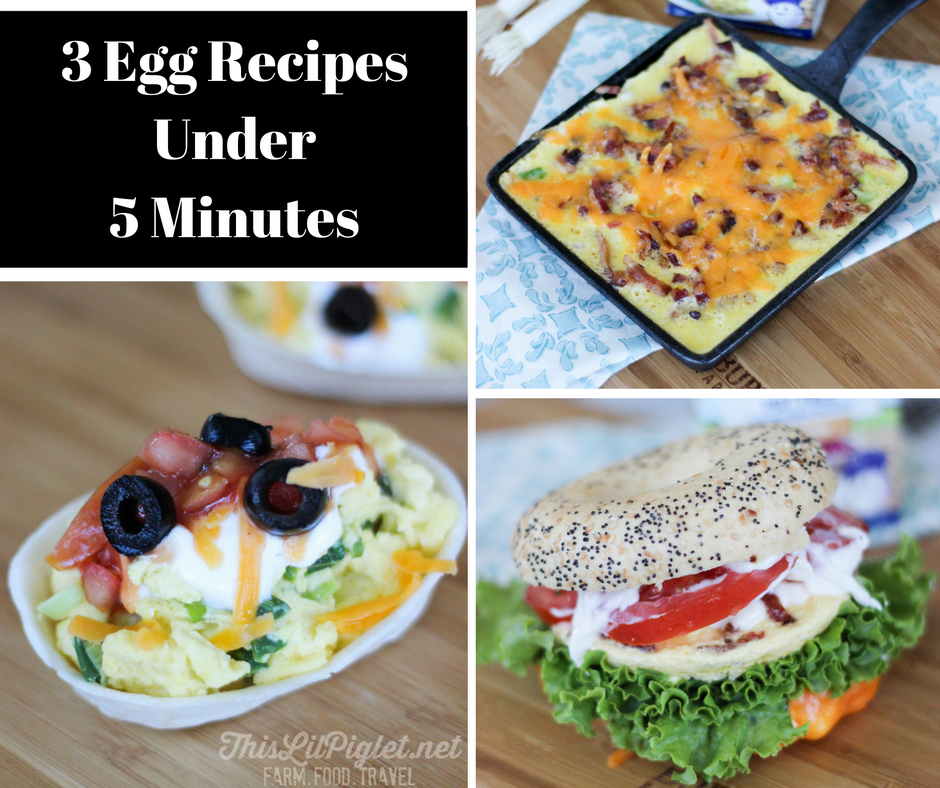 3 Egg Recipes in Under 5 Minutes // thislilpiglet.net