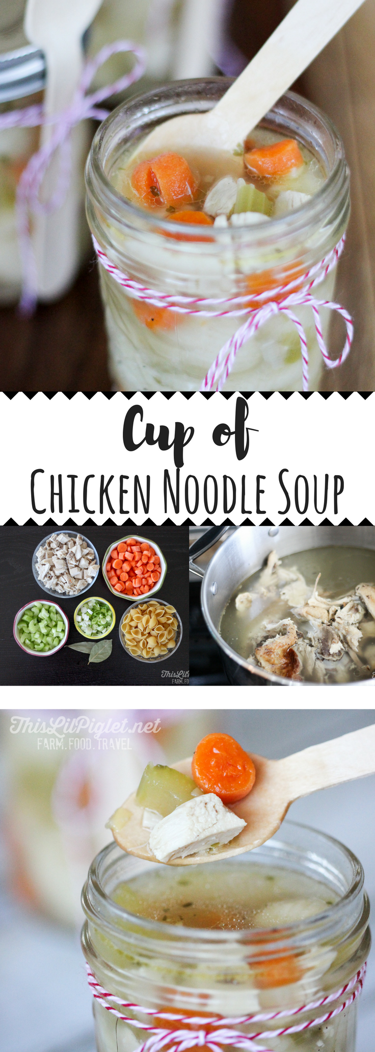 Cup of Chicken Noodle Soup for a Gift Idea or On-the-Go // thislilpiglet.net