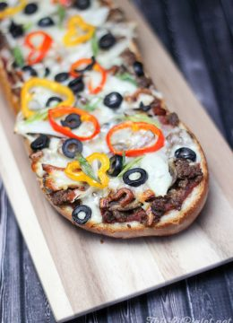 Hamburger Pizza Loaf // thislilpiglet.net