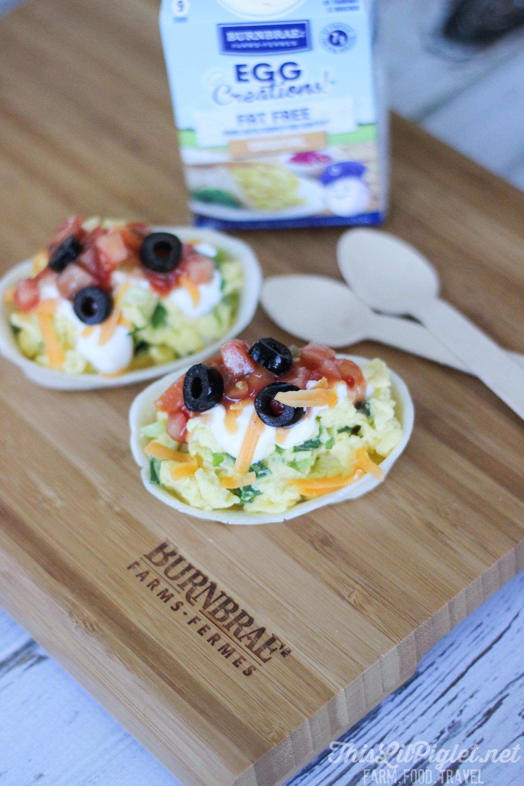 Mini Egg Taco Bowls // thislilpiglet.net