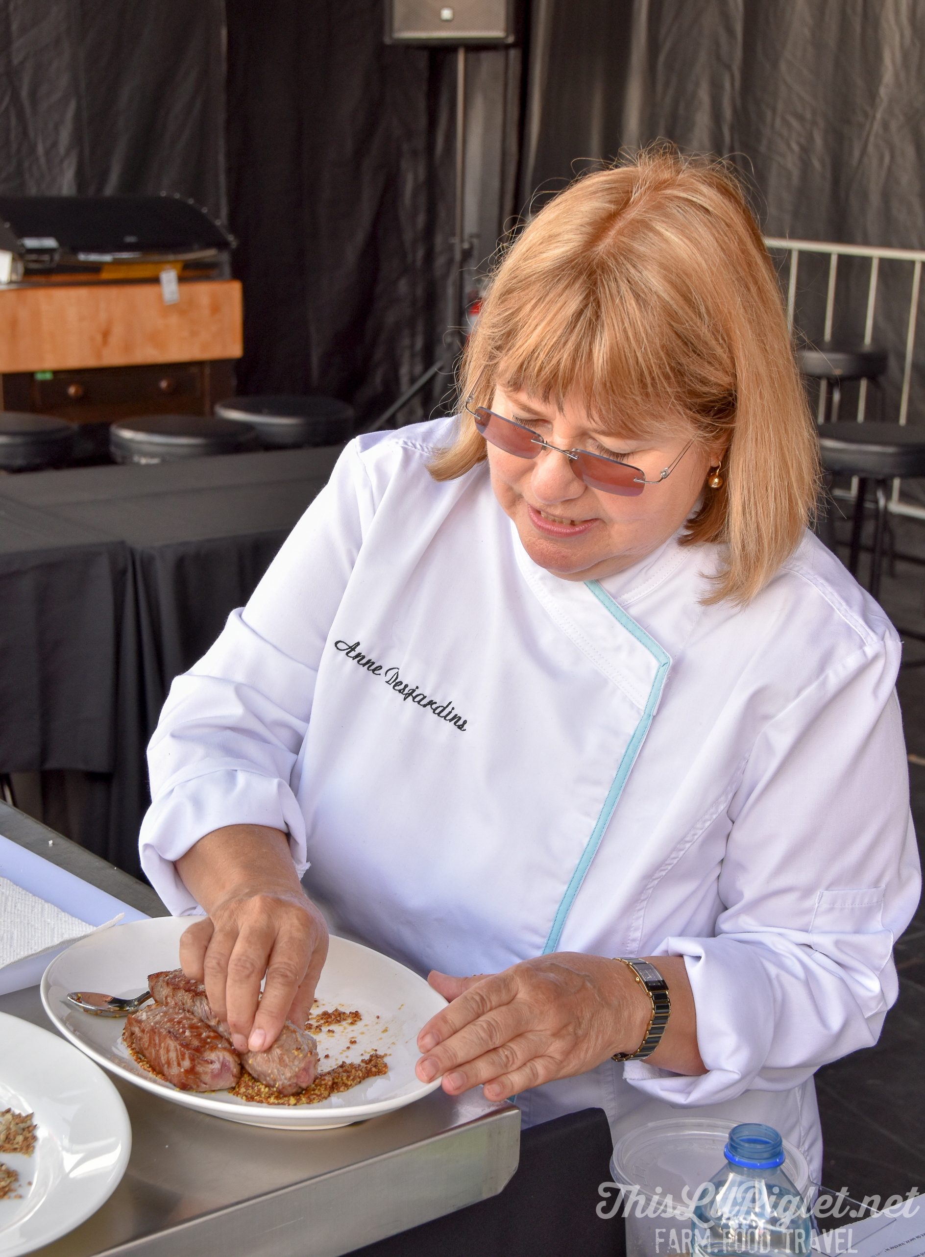 Chef Anne Desjardins at Tremblant Gourmand Mont Tremblant // @thislilpiglet