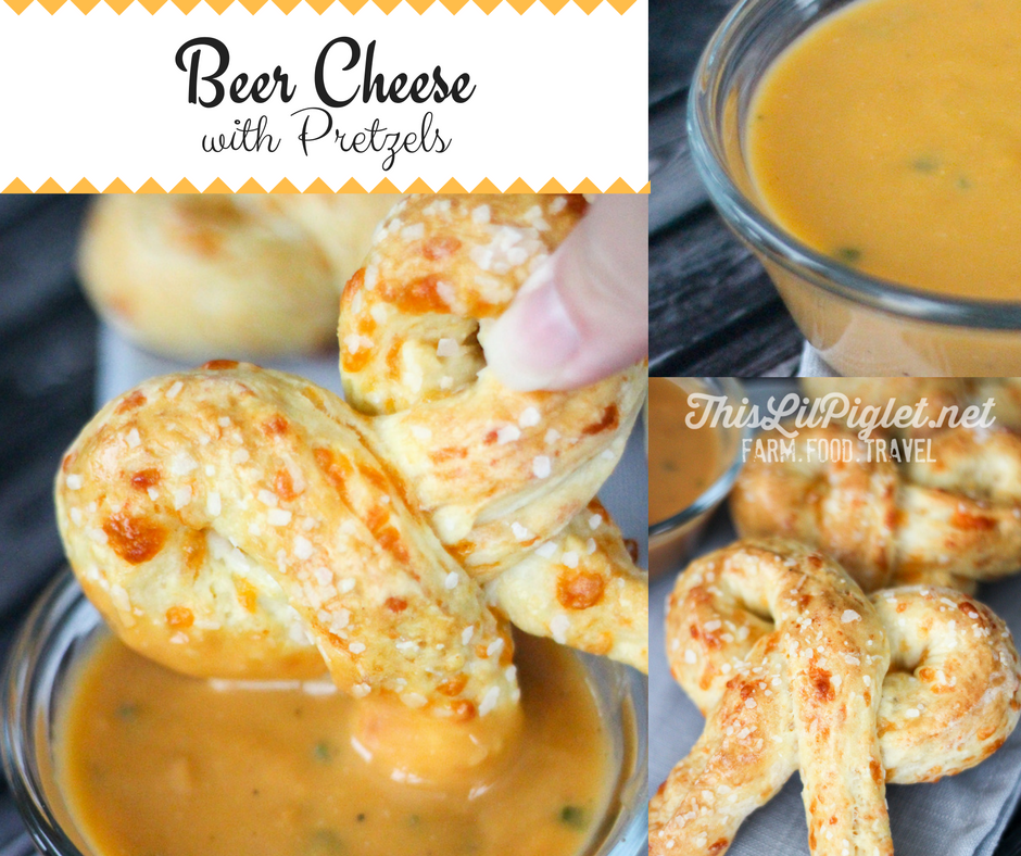 Beer Cheese and Pretzels // thislilpiglet.net