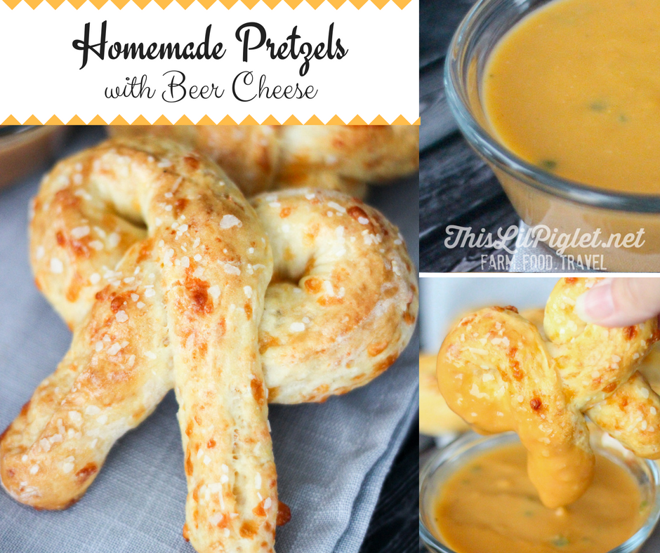 Homemade Pretzels w/ Beer Cheese // thislilpiglet.net