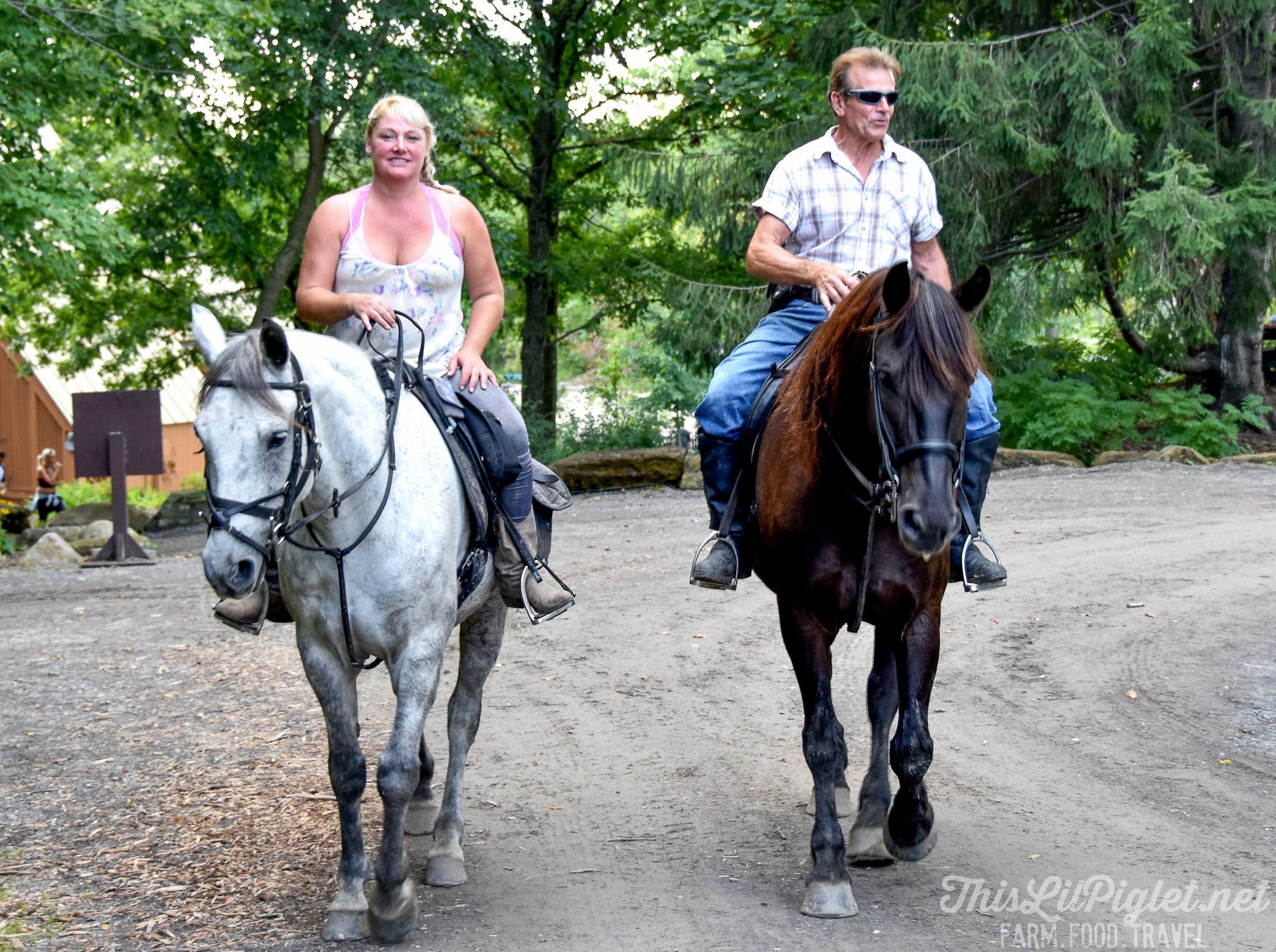 Quebec Farm to Table Discoveries in the Bois de Belle-Rivière Regional Park: Things to Do - Horseback Riding // thislilpiglet.net
