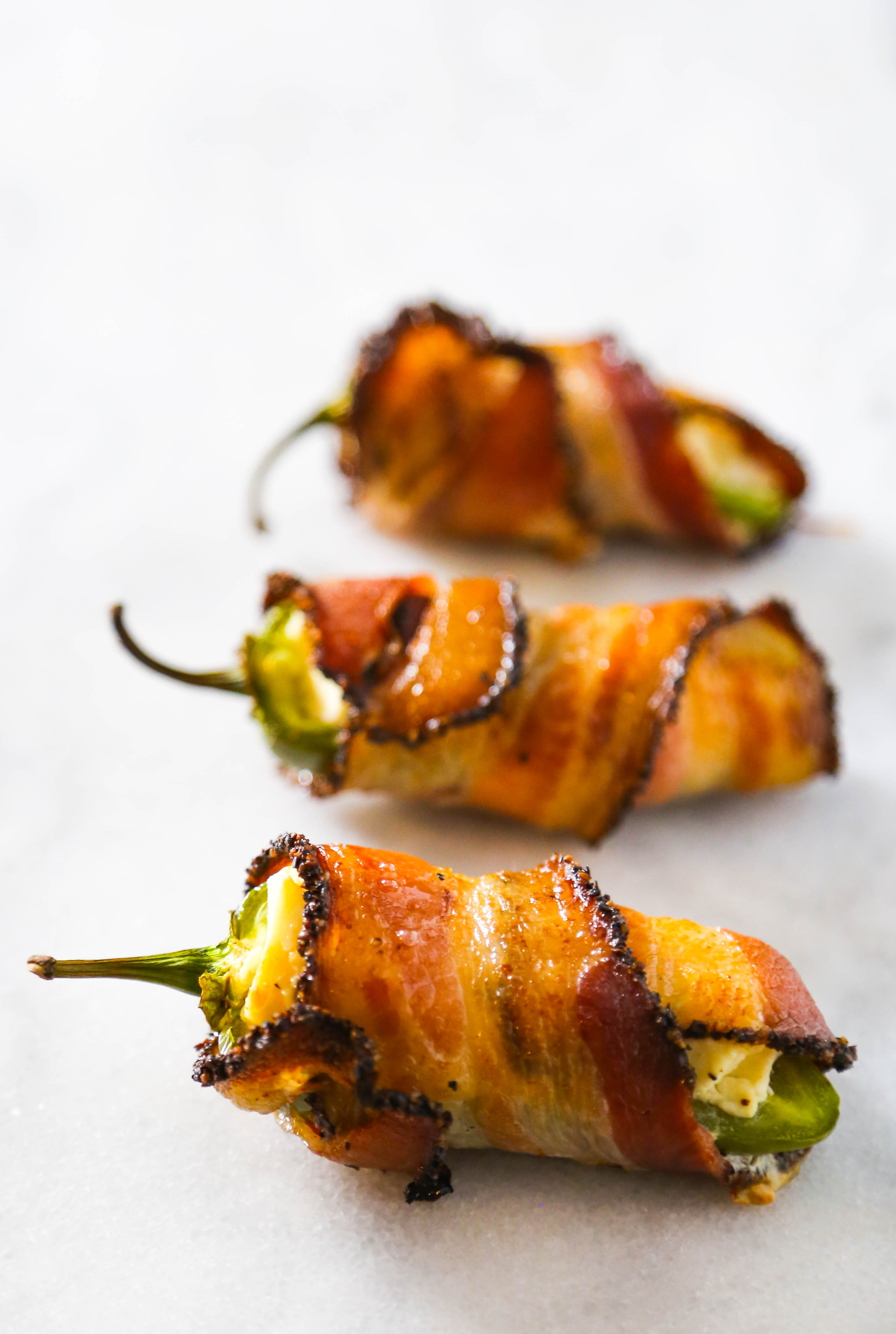 Bacon Wrapped Jalapeno Poppers // thislilpiglet.net
