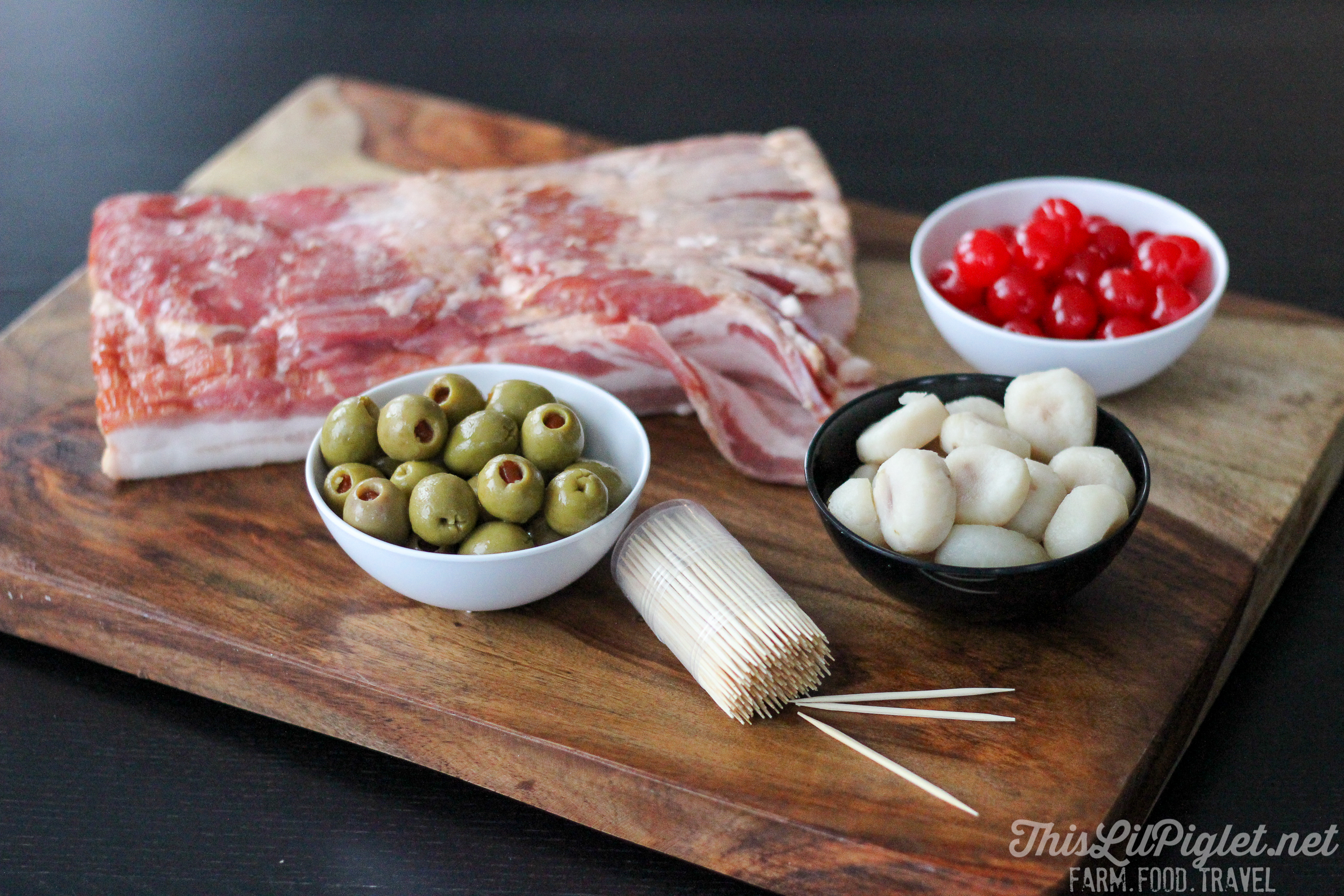 Bacon Appetizer Ingredients // thislilpiglet.net