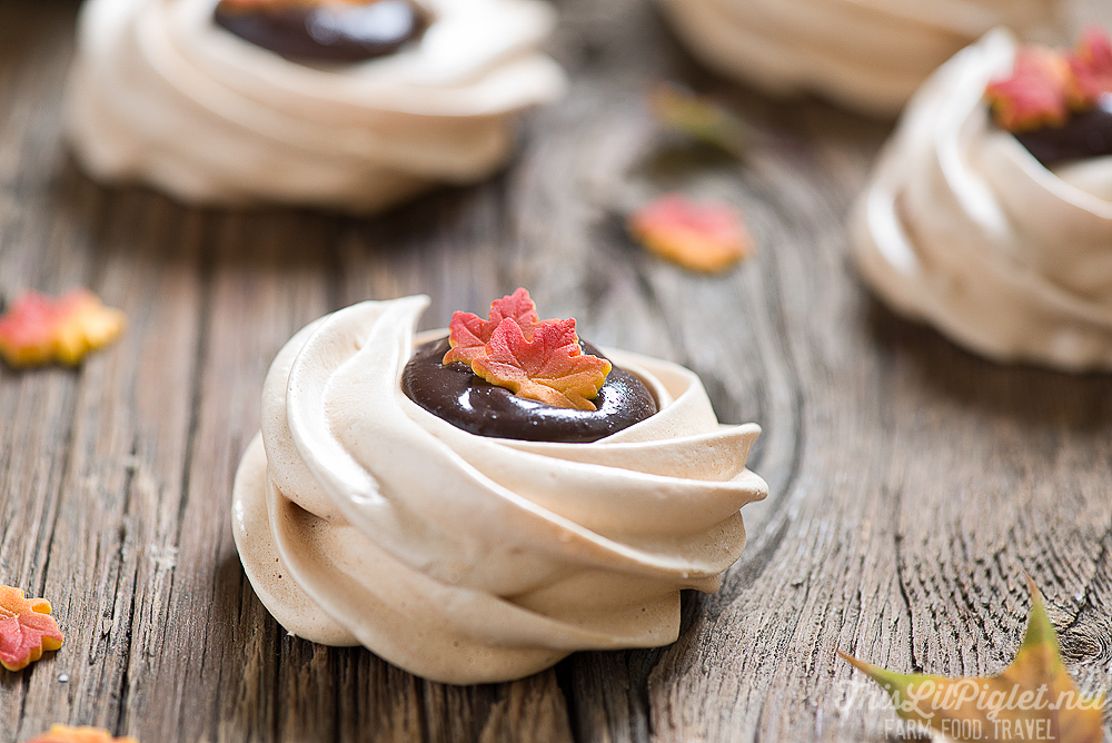 Meringue Cookies with Irish Cream Ganache Batch // thislilpiglet.net