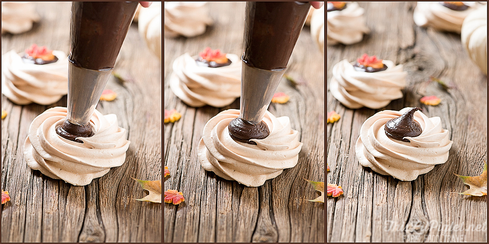 Meringue Cookies with Irish Cream Ganache Piping // thislilpiglet.net