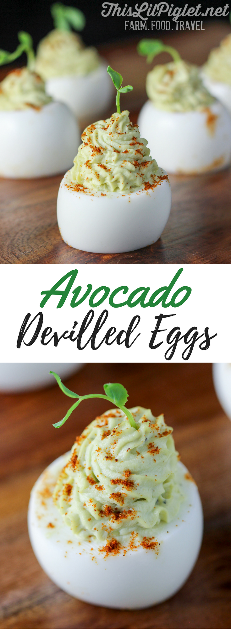 Avocado Devilled Eggs // via @thislilpiglet