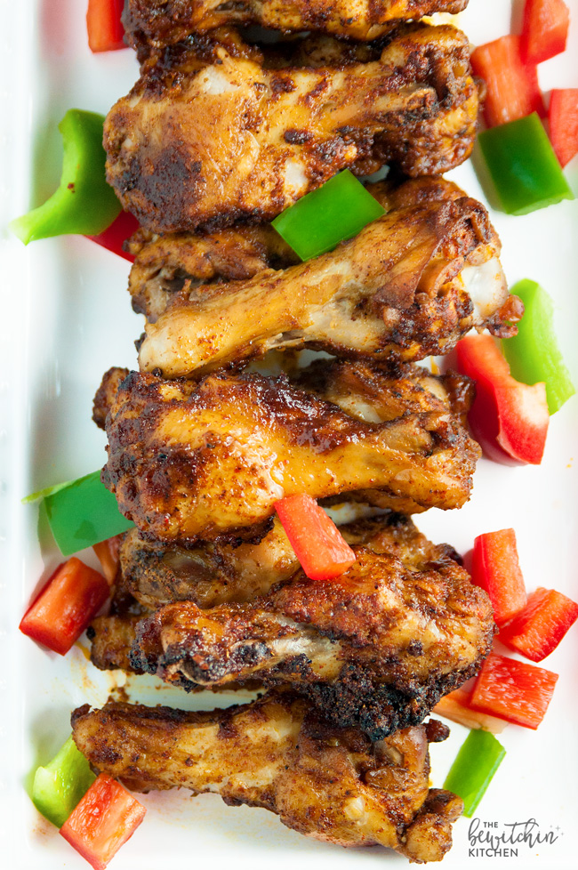 Fajita Chicken Wings // thislilpiglet.net