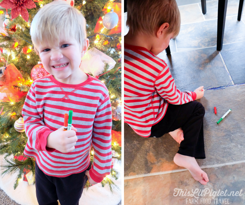 Holiday Cleaning in Unexpected Places Toddlers and Markers // thislilpiglet.net