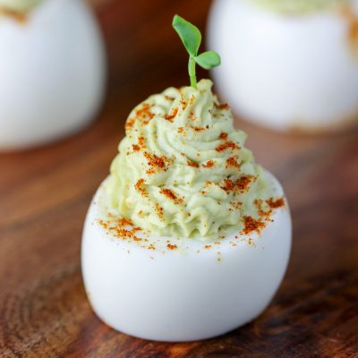 Avocado Devilled Eggs Holiday Appetizer