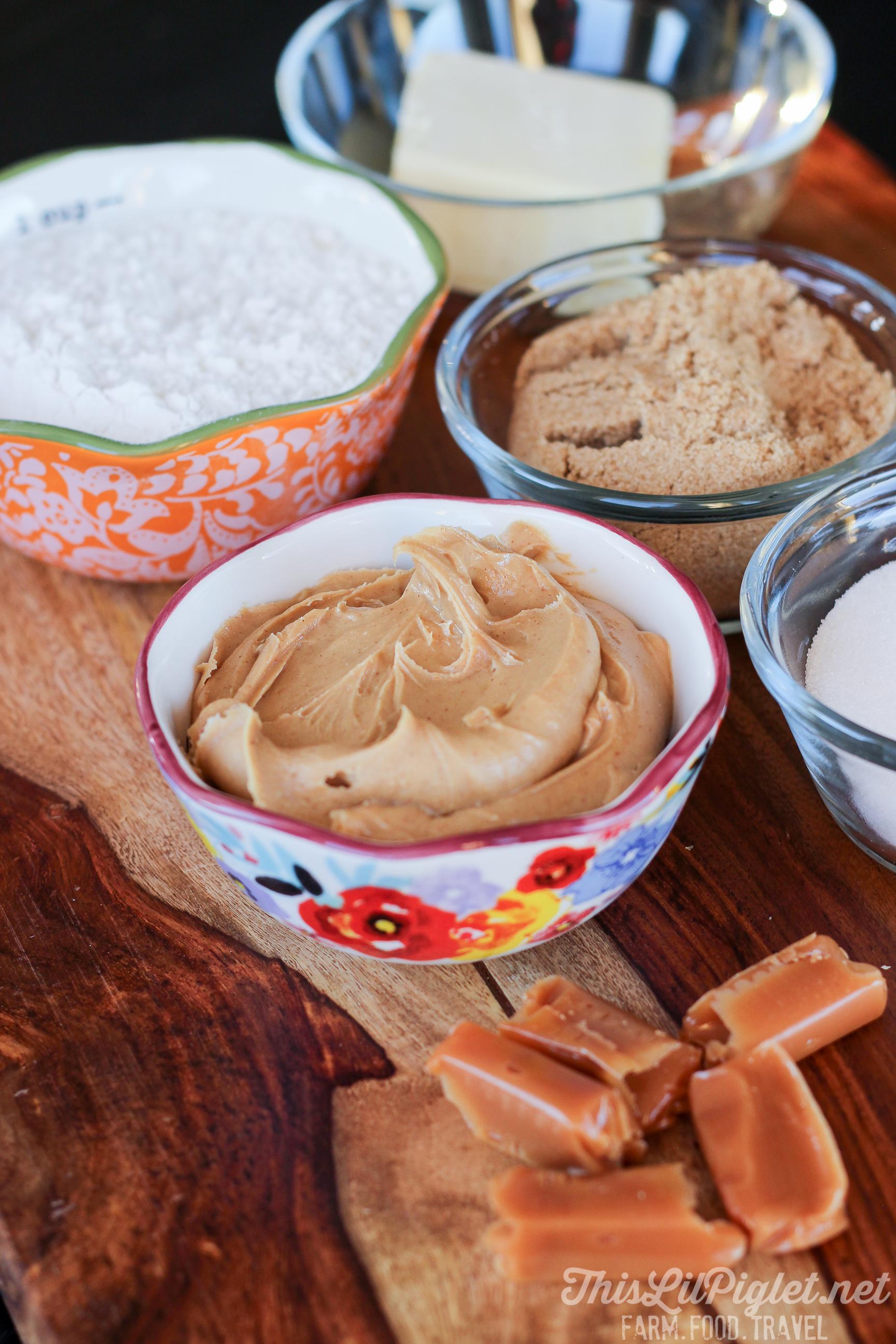 Peanut Butter Shortbread Toffee Bites Ingredients // thislilpiglet.net