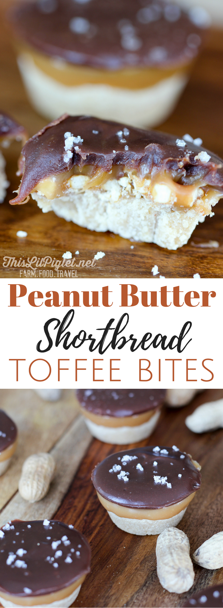 Peanut Butter Shortbread Toffee Bites, a delicious Cookie Exchange Recipe // via @thislilpiglet