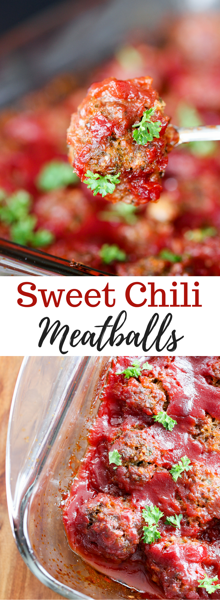 Sweet Chili Meatballs Appetizer // @thislilpiglet