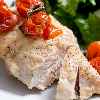 Easy Parmesan Chicken with Cherry Tomatoes