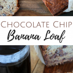 Chocolate Chip Banana Loaf with Walnuts