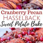 Cranberry Pecan Hasselback Sweet Potato Bake