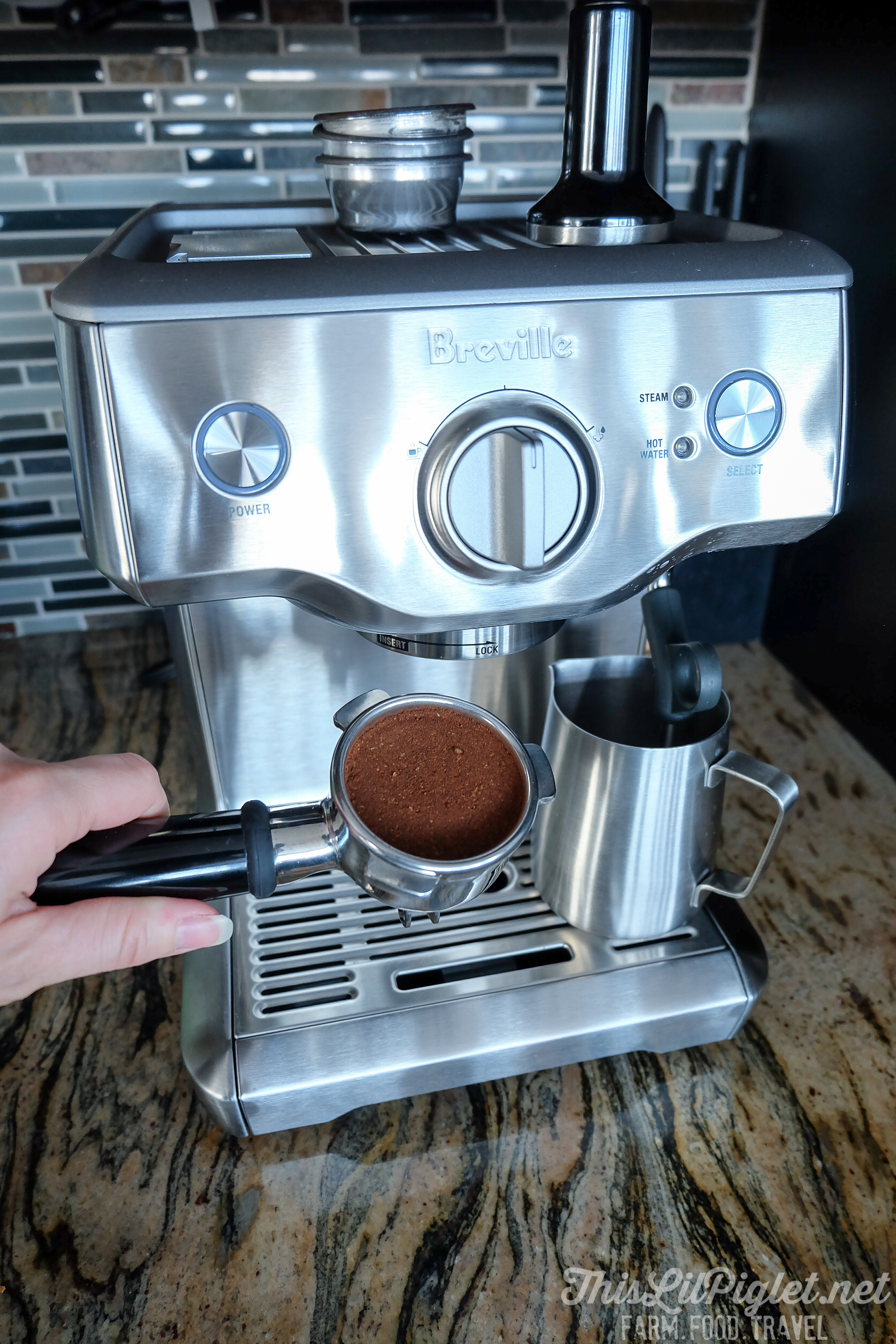 Breville Duo-Temp™ Pro Coffee Espresso Maker Review - Grounds // thislilpiglet.net