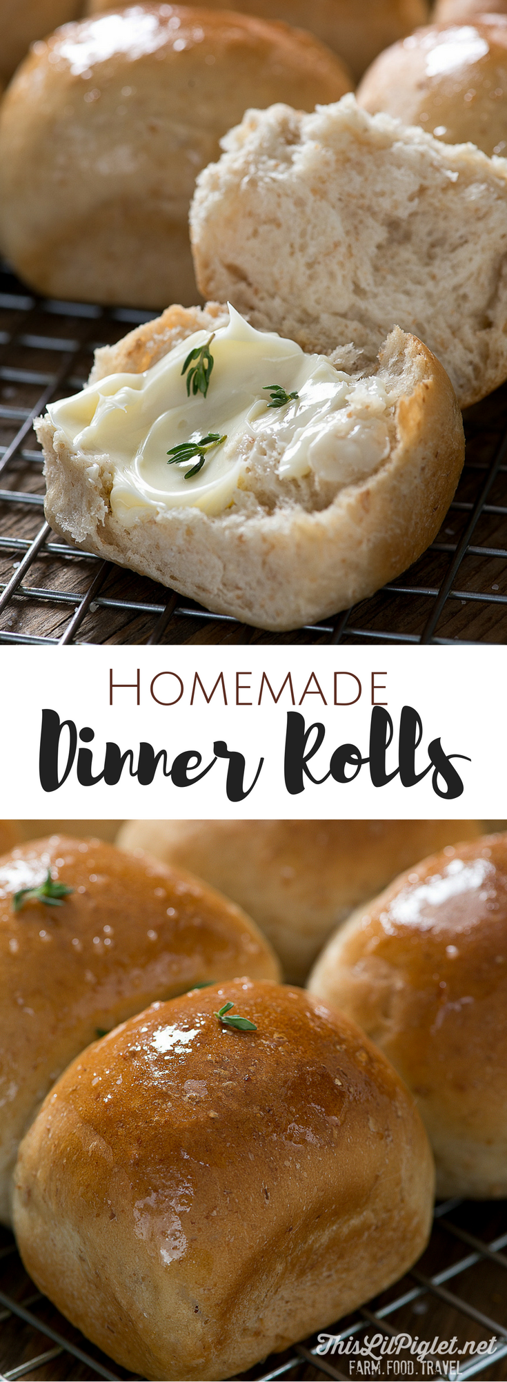 Homemade Dinner Rolls { for a Crowd } // thislilpiglet.net